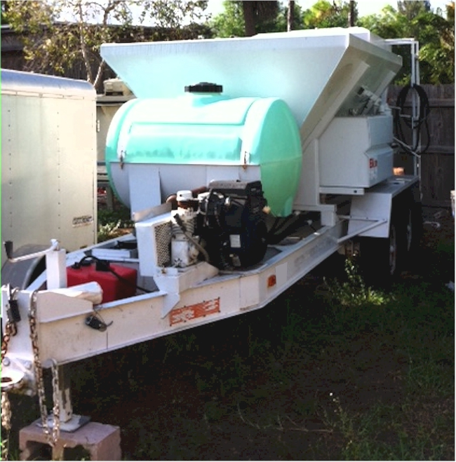 Elkin 2 Yard Trailer Mounted Mobile Mixer For Sale