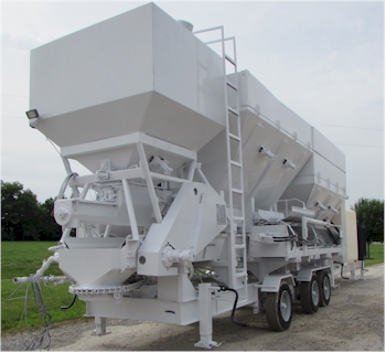 Used 2007 Elkin 12 yard Extra High Production Mobile Volumetric Batch Plant